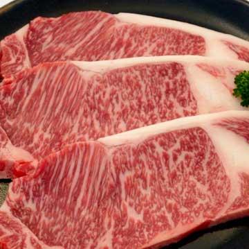 写真:米沢牛ステーキ サーロイン(秀)