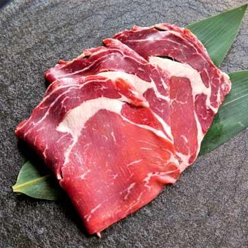 写真:ニュージーランド産牧草牛リブロースすき焼き用スライス