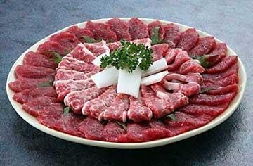 写真:【肥後馬刺し】霜降り&赤身の皿盛り