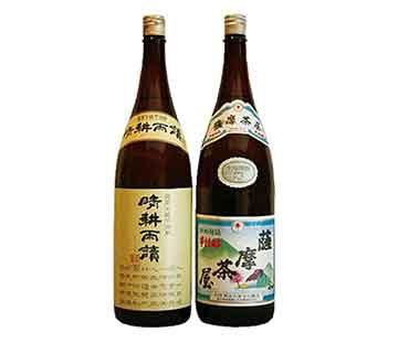 写真:薩摩茶屋と晴耕雨讀の芋焼酎セット