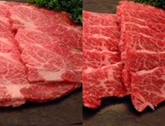 写真:米沢牛焼肉(上カルビ250g・ロース250g・たれ)