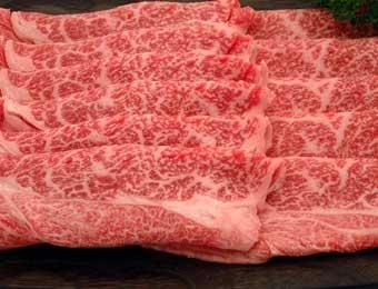 写真:米沢牛すき焼き・しゃぶしゃぶ(ロース)